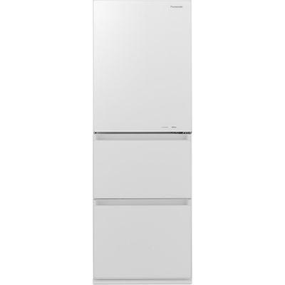 パナソニック ノンフロン冷蔵庫3ドア335Lスノーホワイト NR-C340GC-W