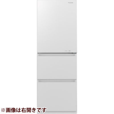 パナソニック ノンフロン冷蔵庫3ドア335L左開きタイプスノーホワイト NR-C340GCL-W