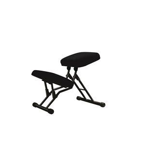 その他 学習椅子/ワークチェア 【ブラック×ブラック】 幅440mm 日本製 折り畳み スチールパイプ 『セブンポーズチェア』【代引不可】 ds-2154280