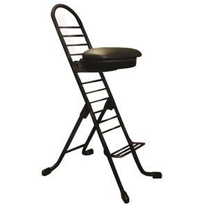 その他 シンプル 折りたたみ椅子 【ブラック×ブラック】 幅420mm 日本製 スチールパイプ 『プロワークチェア ラウンド』【代引不可】 ds-2154299