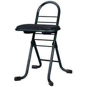 その他 シンプル 折りたたみ椅子 【ブラック×ブラック】 幅420mm 日本製 スチールパイプ 『プロワークチェア ミニ』【代引不可】 ds-2154308