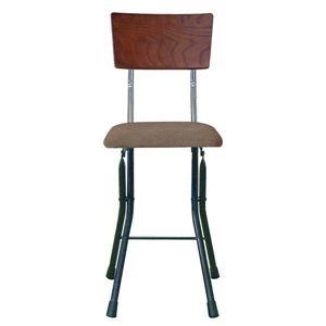 その他 折りたたみ椅子 【同色2脚セット ダークブラウン×ブラック×ブラック】 幅32cm 日本製 スチールパイプ 『アッシュウッドチェア』【代引不可】 ds-2154340