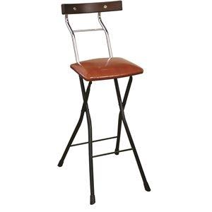 その他 折りたたみ椅子 【リザードブラウン×ブラック+ダークブラウン】 幅34cm 日本製 スチールパイプ 『ロイドチェア ハイ』【代引不可】 ds-2154347