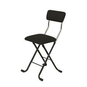 その他 折りたたみ椅子 【4脚セット ブラック×ブラック】 幅40cm 日本製 スチールパイプ 『Jメッシュチェア』 ds-2154354