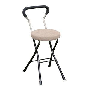 その他 折りたたみ椅子 【4脚セット アイボリー×ブラック】 幅33cm 日本製 スチールパイプ 『ソニッククッションチェア』【代引不可】 ds-2154375
