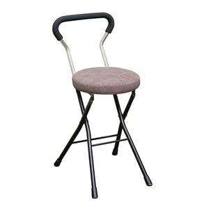 その他 折りたたみ椅子 【4脚セット ブラウン×ブラック】 幅33cm 日本製 スチールパイプ 『ソニッククッションチェア』【代引不可】 ds-2154376