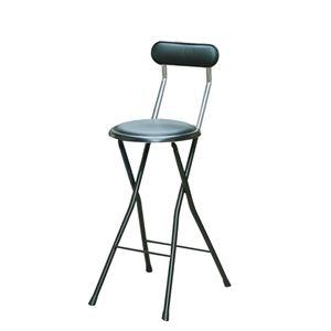 その他 折りたたみ椅子 【同色4脚セット ブラック×ブラック】 幅36cm 日本製 スチールパイプ 【代引不可】 ds-2154386