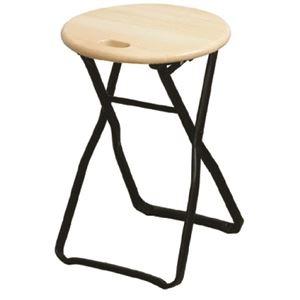 その他 折りたたみ椅子 【4脚セット ナチュラル×ブラック】 幅32cm 日本製 木製 スチールパイプ 【代引不可】 ds-2154397