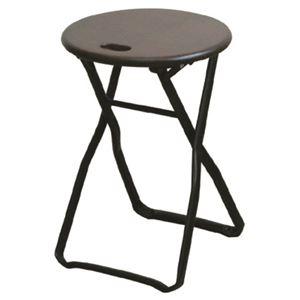 その他 折りたたみ椅子 【4脚セット ダークブラウン×ブラック】 幅32cm 日本製 木製 スチールパイプ 【代引不可】 ds-2154399