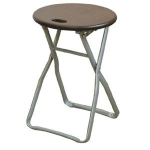 その他 折りたたみ椅子 【4脚セット ダークブラウン×シルバー】 幅32cm 日本製 木製 スチールパイプ 【代引不可】 ds-2154400
