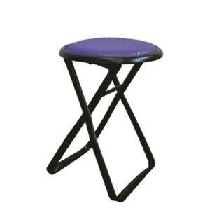 その他 折りたたみ椅子 【6脚セット ブルー×ブラック】 幅32cm 日本製 スチールパイプ 【代引不可】 ds-2154401