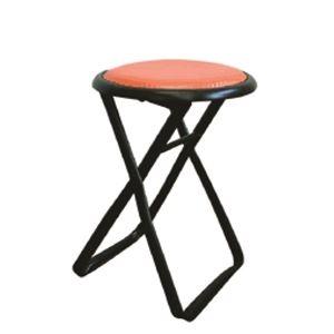 その他 折りたたみ椅子 【6脚セット レッド×ブラック】 幅32cm 日本製 スチールパイプ 『キャプテンチェア』【代引不可】 ds-2154403