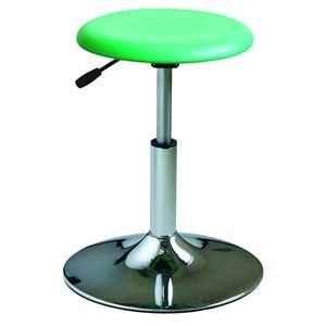 その他 丸椅子/パーソナルチェア 【グリーン×クロームメッキ】 幅385mm 日本製 スチール 【代引不可】 ds-2154536