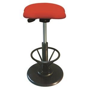 その他 モダン スツール/丸椅子 【フットレスト付き レッド×ブラック】 幅33cm 日本製 【代引不可】 ds-2154542
