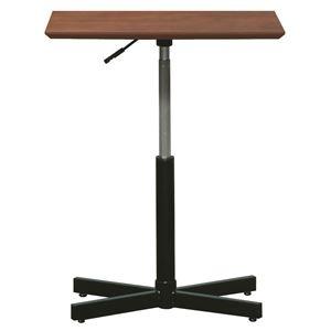 その他 昇降サイドテーブル 【ダークブラウン×ブラック】 幅60cm 日本製 木製 スチールパイプ 耐荷重30kg 『ブランチ ヘキサテーブル』【代引不可】 ds-2154554