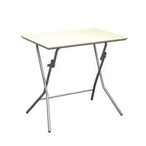 その他 折りたたみテーブル 【幅75cm ナチュラル×シルバー】 日本製 木製 スチールパイプ 『スタンドタッチテーブル755』【代引不可】 ds-2154579