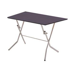 その他 折りたたみテーブル 【幅90cm ダークブラウン×シルバー】 日本製 木製 スチールパイプ 『スタンドタッチテーブル900』【代引不可】 ds-2154585