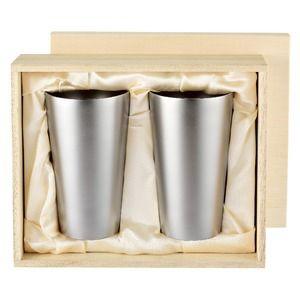 その他 チタン製 タンブラー/ビアカップ 2PCS 日本製 2重カップ TW-6 『アサヒ』 〔カフェ バー〕 ds-2149744