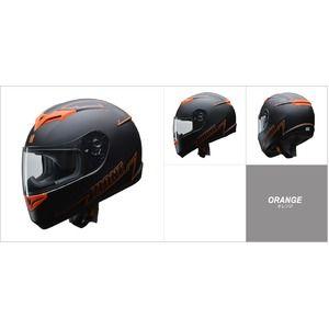 その他 人気のマットブラック ZIONE(ジオーネ) フルフェイスヘルメット オレンジ Lサイズ ds-2149941