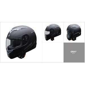 その他 人気のマットブラック ZIONE(ジオーネ) フルフェイスヘルメット グレイ Lサイズ ds-2149944