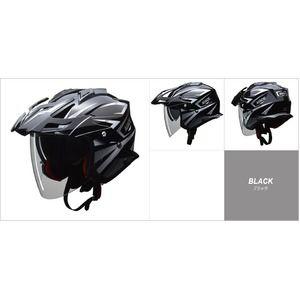 その他 バイザーの脱着が可能!! AIACE(アイアス) アドベンチャーヘルメット Lサイズ ブラック ds-2151310