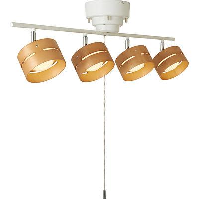 ヤザワ LEDひも式4灯スポットシーリングライト(ホワイト) Y07CEL40L01WH