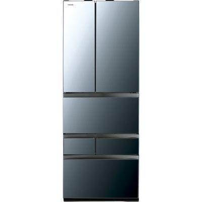 東芝 VEGETA(ベジータ) 6ドア冷蔵庫(601L・フレンチドア) クリアミラー GR-R600FZ-XK【納期目安:2週間】