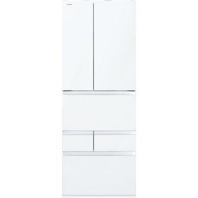 東芝 VEGETA(ベジータ) 6ドア冷蔵庫(601L・フレンチドア) クリアグレインホワイト GR-R600FZ-UW【納期目安:2週間】