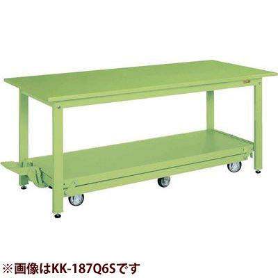サカエ 軽量作業台KKタイプ(ペダル昇降移動式) (サカエグリーン) KK-157Q6S