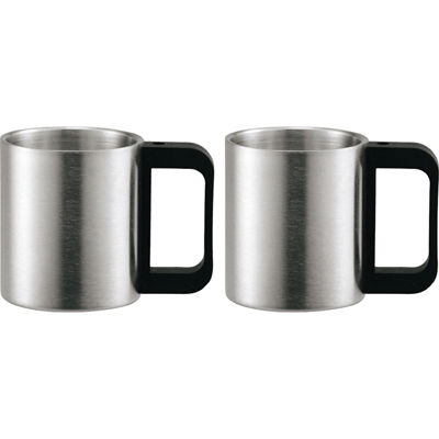 その他 【40個セット】MY1-232 マイワン マグカップ 2P (二重構造) 4972940312955