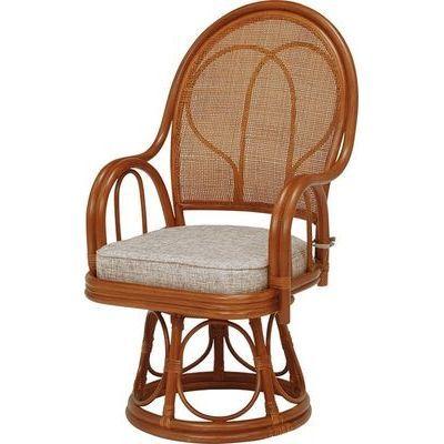 HAGIHARA(ハギハラ) 【2個セット】籐回転座椅子 RZ-045BR 2101849600