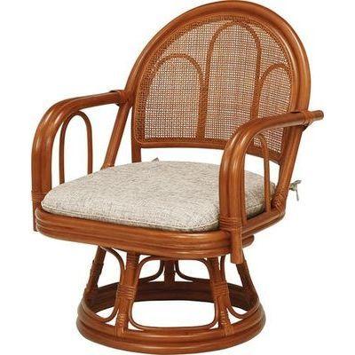 HAGIHARA(ハギハラ) 【2個セット】籐回転座椅子 RZ-942BR 2101839900