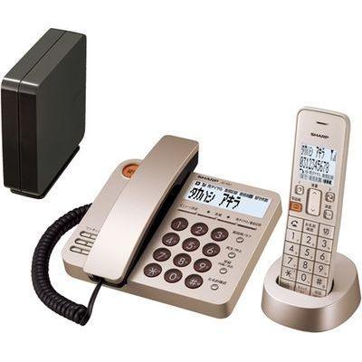 シャープ コードレスデザイン電話機 シャンパンゴールド JD-XG1CL-N【納期目安:約10営業日】