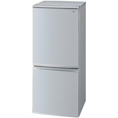 シャープ 137L 2ドア冷蔵庫 左右付替タイプ シルバー系 SJ-D14D-S