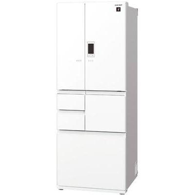 シャープ 551L6ドア 冷蔵庫ピュアホワイト SJ-GA55E-W【納期目安:約10営業日】