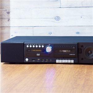 その他 DVD&スピーカー内蔵 テレビ台/TV台 【幅60cm】 バスレフ式10W×2 サブウーファー20W CD カセット録再 SDカード録再 USB録再可 ds-2161272:激安!家電のタンタンショップ