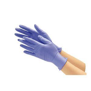 その他 川西工業 ニトリル使い切り手袋 ブルーM 10箱 ds-2157604