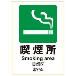その他 (まとめ) ヒサゴ ピタロングステッカー 喫煙所 A4 KLS033【×10セット】 ds-2158690