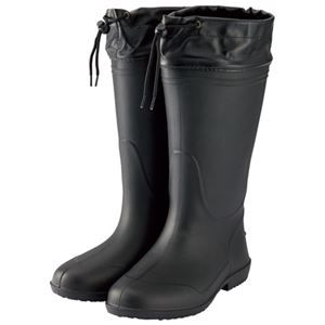 その他 (まとめ) ミタニコーポレーション 軽量長靴ホッパー01 LL ブラック 214147【×5セット】 ds-2158739