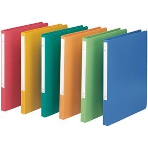 その他 (まとめ) LIHITLAB スーパーパンチレスファイル A4S 赤 10冊【×3セット】 ds-2158940