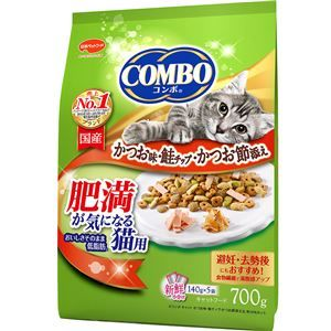その他 (まとめ)コンボ キャット 肥満が気になる猫用 かつお味・鮭チップ・かつお節添え 700g【×12セット】【ペット用品・猫用フード】 ds-2161957