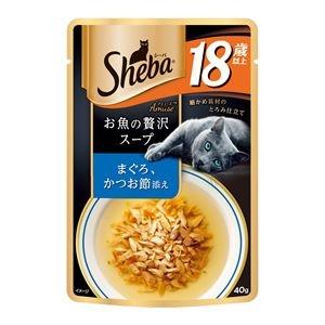 その他 (まとめ)シーバ アミューズ 18歳以上 お魚の贅沢スープ まぐろ、かつお節添え 40g【×96セット】【ペット用品・猫用フード】 ds-2162265