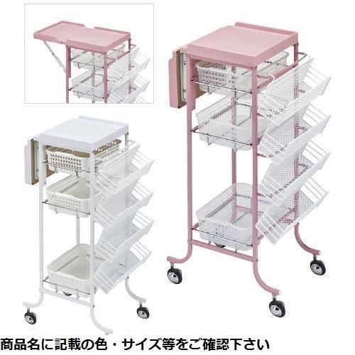 松吉医科器械 アプリワゴン(補助台付) SN-AP012P(ピンク) CMD-00876192【納期目安:2週間】