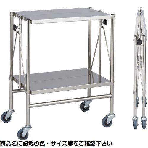 松吉医科器械 折りたたみ式器械台 手摺なし MY-1510(600×450×800) CMD-00230032【納期目安:2週間】