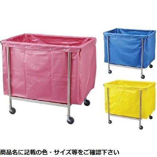 松吉医科器械 カラーランドリーカート(角型) MY-LCSB(600×450×800) ブルー 24-2527-0101【納期目安:2週間】