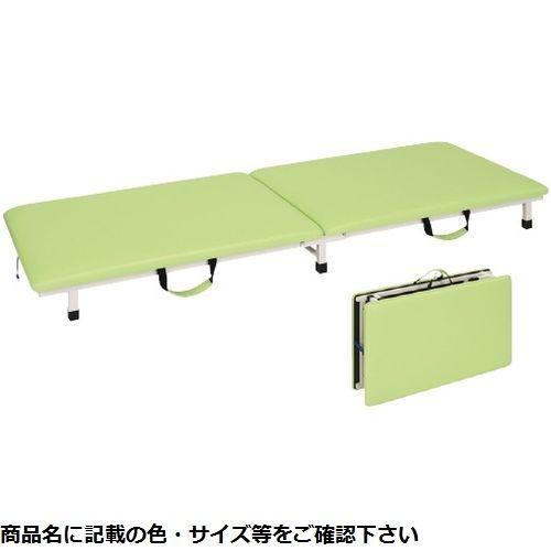 その他 高田ベッド製作所 付添ポータブルベッド TB-1262(60×190×17cm) ビニルレザーライトグリーン CMD-0087453405【納期目安:2週間】