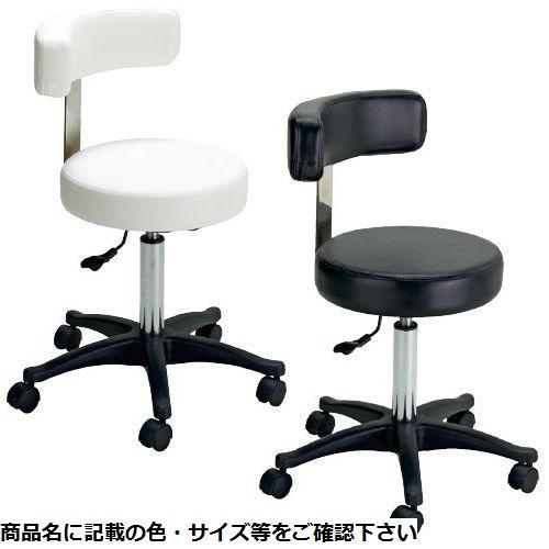 松吉医科器械 SNナースチェア(背付) SN-CH008BK(ブラック) CMD-00876195