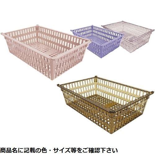 サカセ化学工業 プラスチックバスケット PB64-17 透明 CMD-0085089203【納期目安:追って連絡】