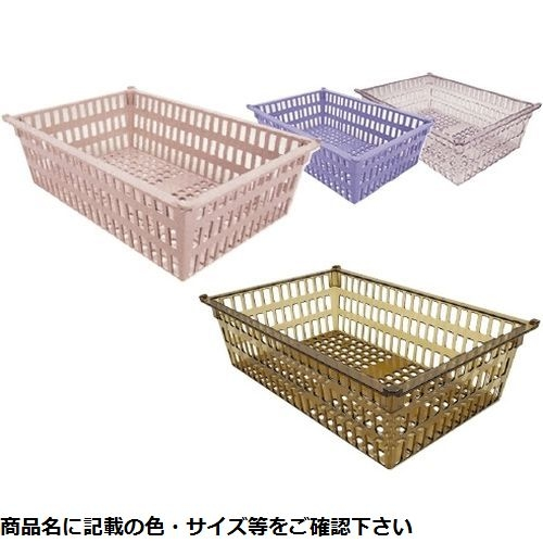 サカセ化学工業 プラスチックバスケット PBM×64-17(アンバー) CMD-00850893【納期目安:追って連絡】
