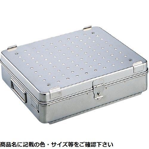 その他 中材用角型カスト(フィルター式)中 M-35F(32.5×26×8.5cm) 03-3060-02【納期目安:3週間】